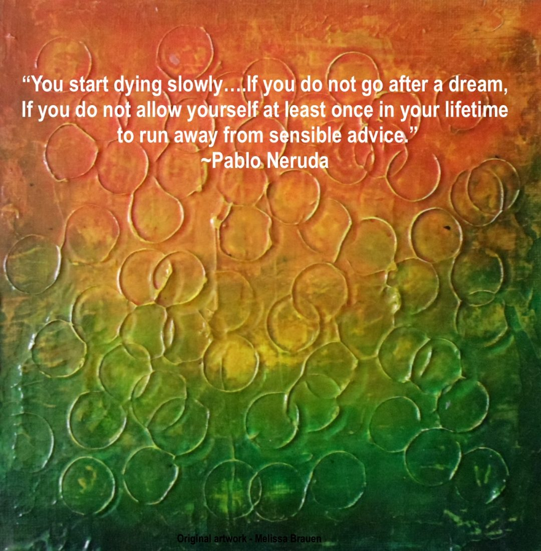 original art by melissa brane with quote