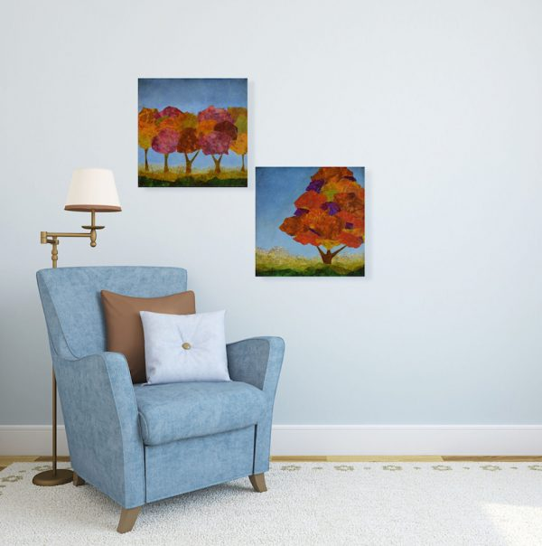 expressionist colorful home art in situ