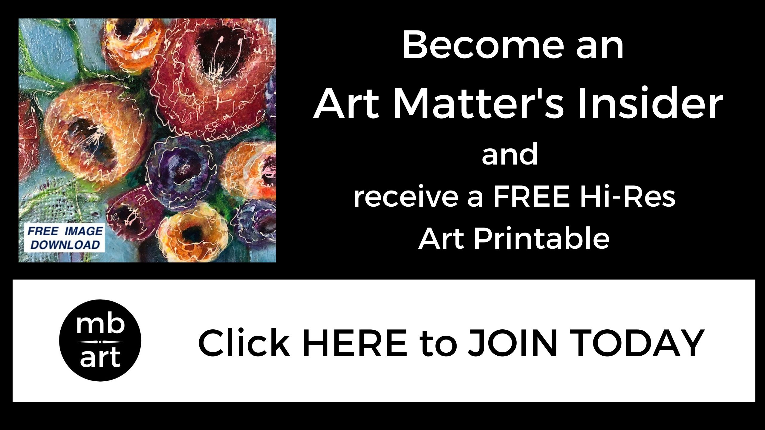invitation to join Melissa Brauen's newsletter offering free downloadable print