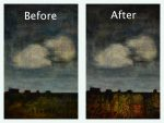 showing before and after changed made to this city scape